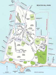 map of beacon hill park