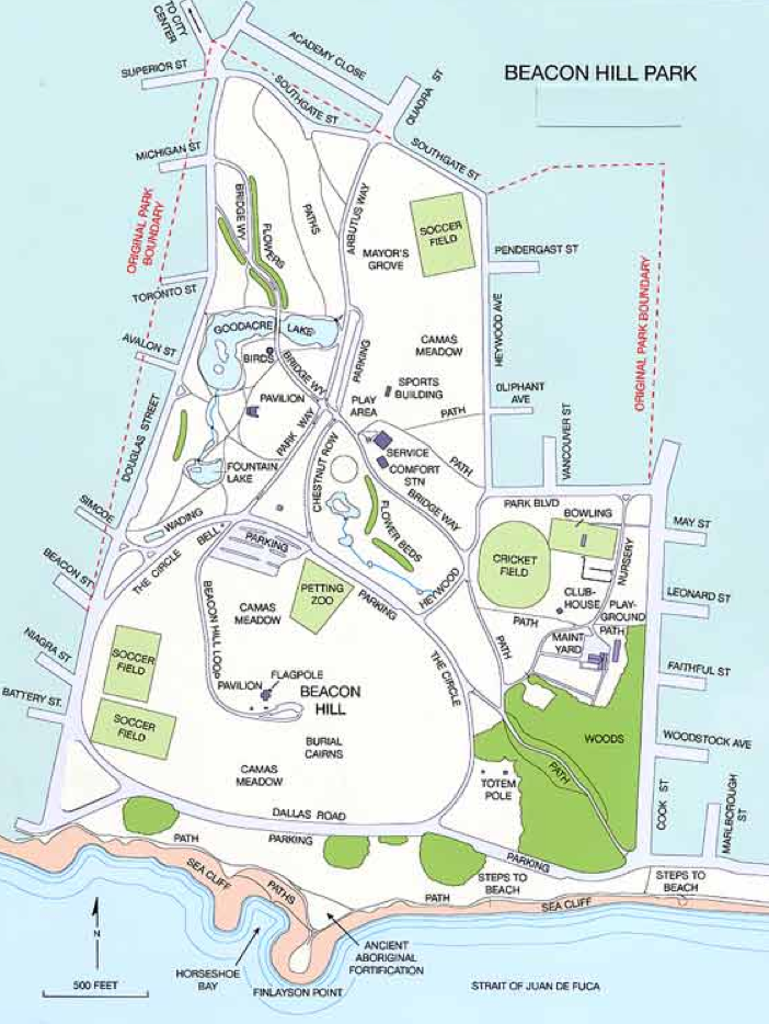 Hotels Downtown Victoria Map
