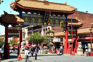 Gate of Harmonious Interest, Chinatown, Victoria, BC Visitor in Victoria