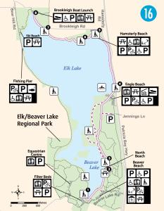 elk lake and beaver lake trail