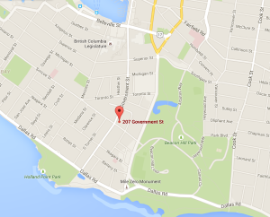 Emily Carr House map