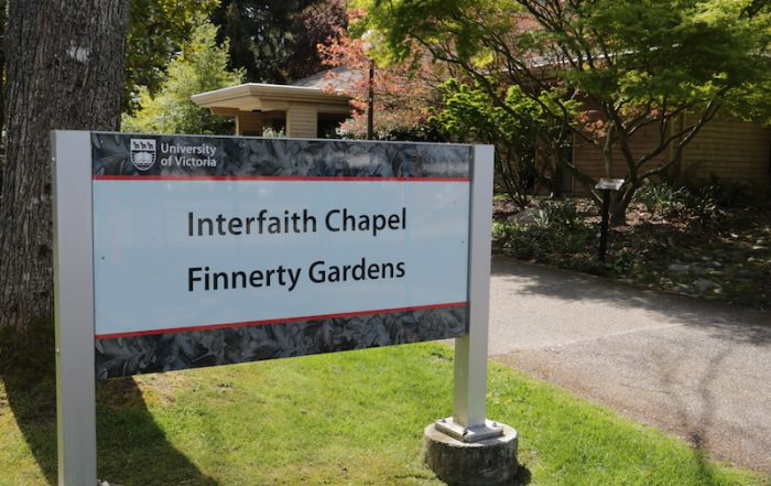 Finnerty Garden Sign, University of Victoria, BC, Visitor in Victoria
