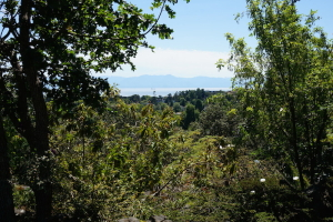 View to the Olympic Peninsula from path at Gov't House