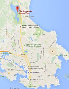 map to Beaver/Elk Lake