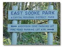 East Sooke Sign Visitor In Victoria