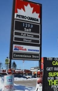 price of gas per litre