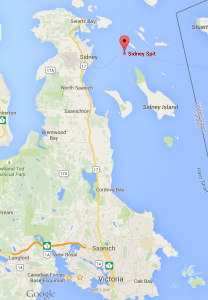 sidney spit map