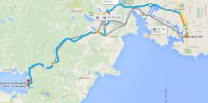 Map to Roche Cove