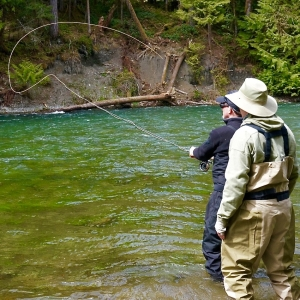 Fly fishing victoria, fishing in Cowichan River, BC, YYJ, fishing in Victoria