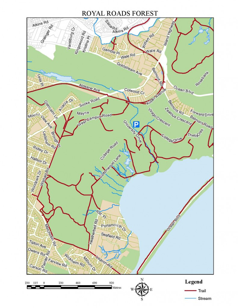 Trails around Royal Roads & Hatley Castle, Victoria, BC, Walking trails in Victoria, Visitor in Victoria