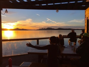 Sunset at the Saturna LIghthouse Pub