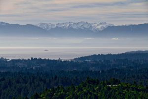 Juan De Fuca Strait with Race Rocks Lighthouse