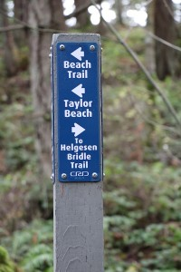 Devonian Park Trail Markers at Devonian Park, Victoria, BC Visitor in Victoria