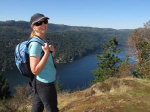 Linda Hiking Gowland Todd, Victoria, BC