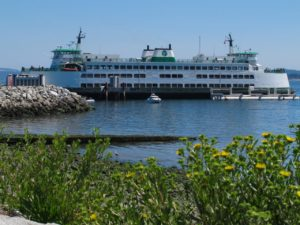 Washington State Ferry in Sidney, BC
