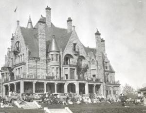 historical photo of Craigdarroch Castle, Victoria, BC