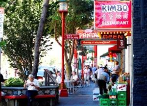 Fisgard Street, Chinatown Victoria, BC Visitor in Victoria