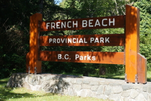 French Beach Sign