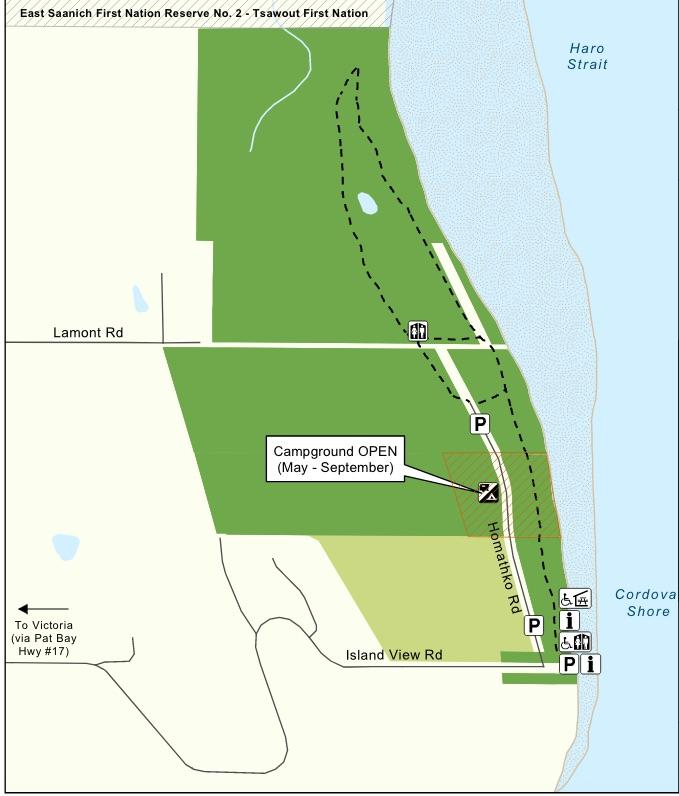 Island View Beach Regional Park Map