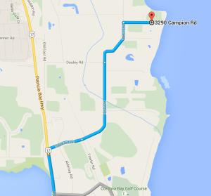 map to beachcomber RV