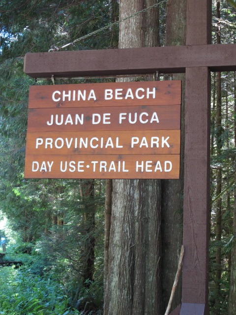 China Beach Sign