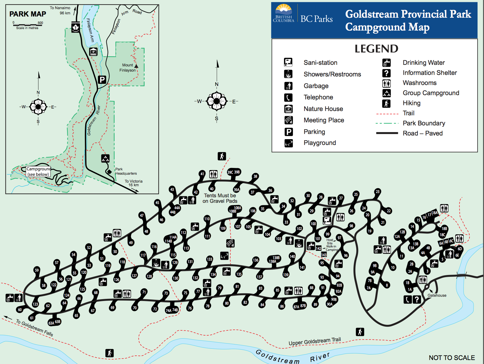 sitemap of goldstream campground