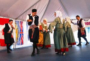 dancing at greek fest