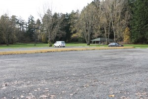 Parking lot at Elk Lake BC, Visitor in Victoria
