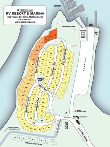 Pedder Bay Site Map