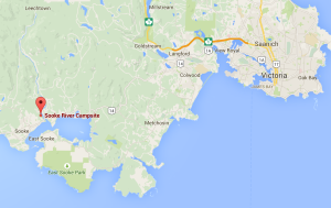 Map to Sooke River Campsite