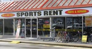 Sports rent storefront