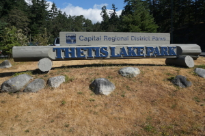 Thetis Lake Sign