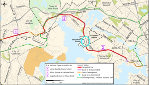 Map of E&N Rail trail