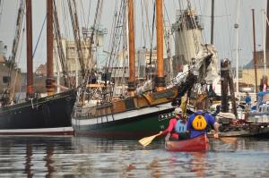 Canoeing Victoria Harbour