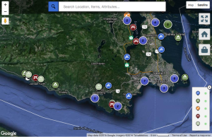 BC Marine Trails Map