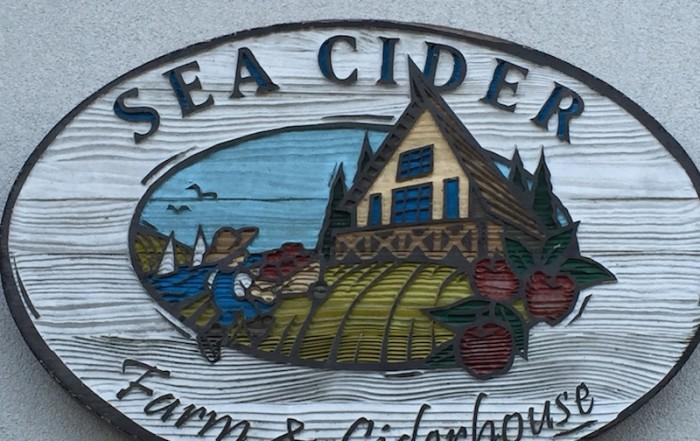 Sea Cider Sign Visitor in Victoria
