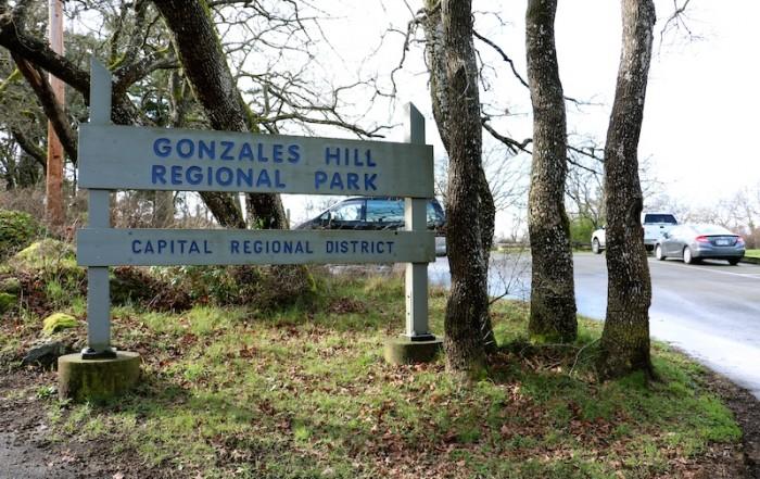 Gonzales Hill Regional Park Victoria BC Visitor in Victoria