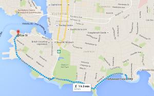 Dallas Road Map, Victoria, BC, walking in Victoria, visitor in victoria