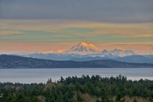 Mt Baker viewed from Mt Tolmie in Victoria
