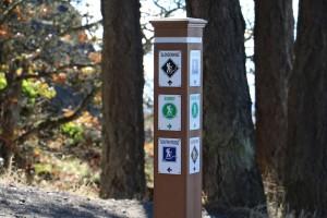 mt doug trail sign, Mt. Douglas park, Victoria, BC, Visitor in Victoria