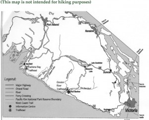 West Coast Trail Map