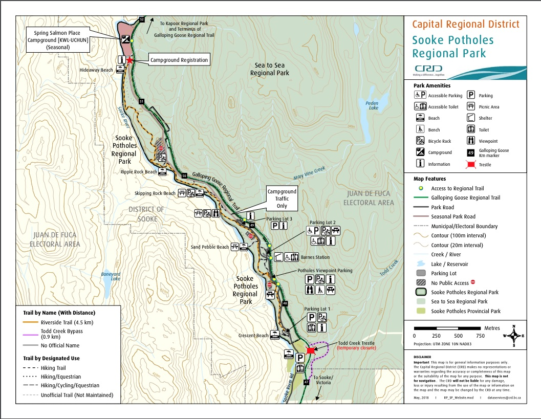 CRD Sooke Potholes Map