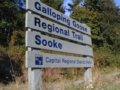 Galloping Goose Trail Sign