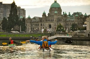 The Inner Harbour and the Legislature Buildings