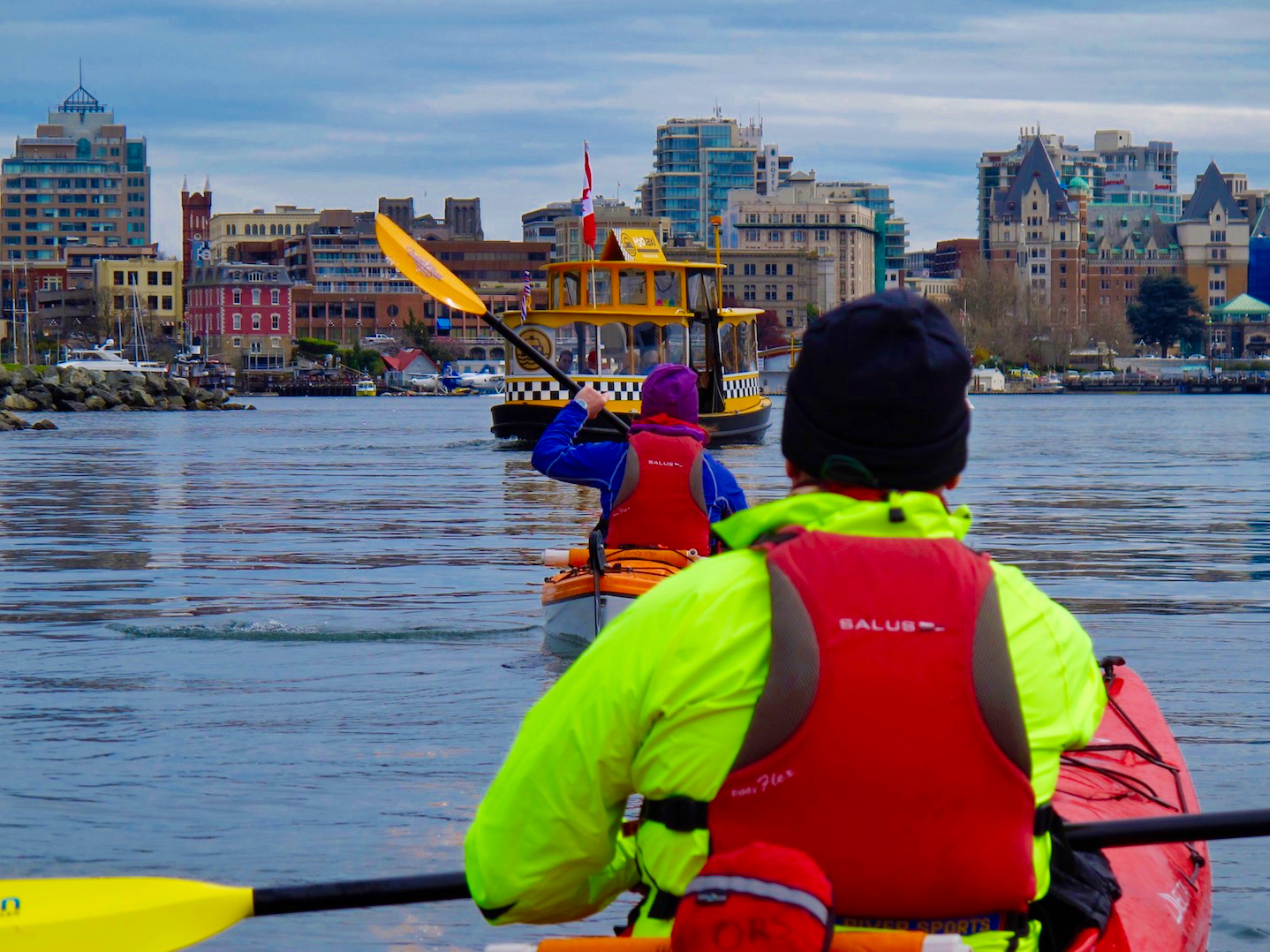 Historic buildings, and lots of boat activity make the harbour an interesting