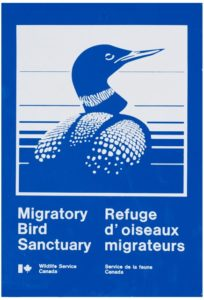 A sign you may see around the harbour as Victoria Harbour is a Migratory Bird Sanctuary