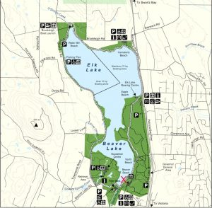 Beaver Lake Map, Saanich, BC