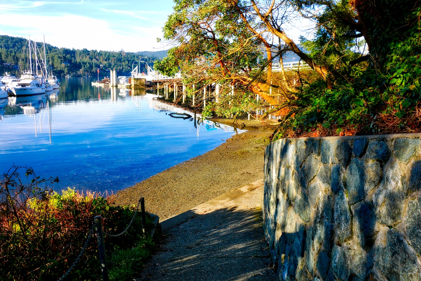 Public beach access at Brentwood Bay, BC