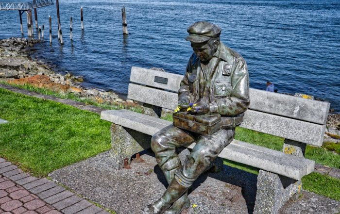 One of the Sculptures on Sidney Waterfront Walk, Sidney, BC Visitor in Victoria