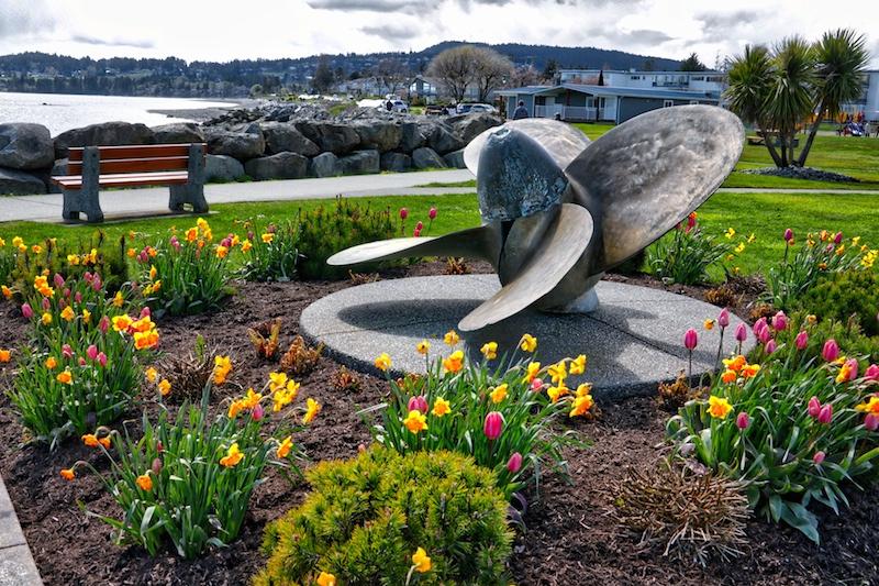 Tulista Park in Sidney, BC Visitor in Victoria